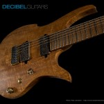 Bare Knuckle Aftermath 7-string matched set with distressed covers really complement the look of the Hipshot bridge and GraphTech String Saver saddles.